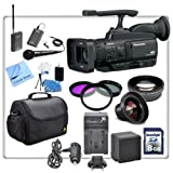 Panasonic AG-HMC40 AVCCAM HD Camcorder With Professional Interview/ Documentary Kit. Includes - Wireless Lapel & Handhel Microphone Kit, Replacement VBG260 Battery, Rapid Travel Charger, 3 Piece Professional Filter Kit, High Definition Wide Angle Lens, Telephoto HD Lens, Pro Series Carrying Case, 8gb SDHC Memory Card, Cleaning Kit & CS Microfiber Cleaning Cloth
