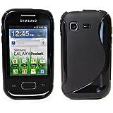 Samsung Galaxy Pocket S5300 Tpu Silikon Hülle Schutzhülle Silikon in Schwarz