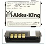 Akku-King Battery for Motorola v3688 V50 V51 V8088 V3690 T250 T260 Timeport P7389 L7089 - replaces SNN5517A Li-Ion