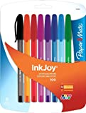 Paper Mate InkJoy 100 Stick Medium Point Advanced Ink Pens, 8 Colored Ink Pens