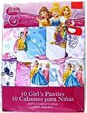 Disney Princesses -Ariel, Belle, Cinderella, Jasmine, Snow White Panties 4t 10 Pck