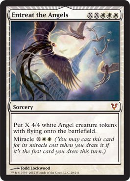 Magic: the Gathering - Entreat the Angels (20) - Avacyn Restored