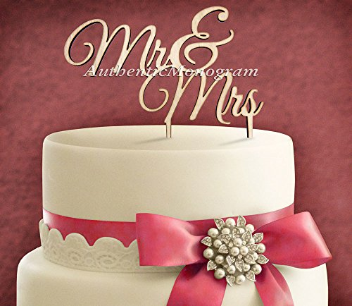 "5""Inch Cake Topper - ""Mr & Mrs"" Wooden Painted Monogram, Wedding Decor, Anniversary, Initial, Celebration, Anniversary, Special Occasion"