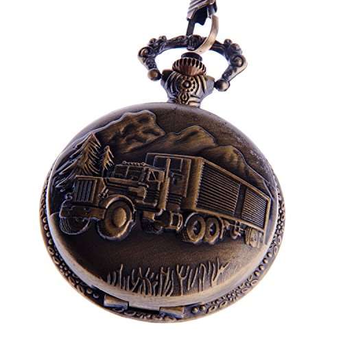 pocket-watch-quartz-with-chain-18-wheeler-semi-truck-vintage-design-arabic-numerals-full-hunter-pw-4