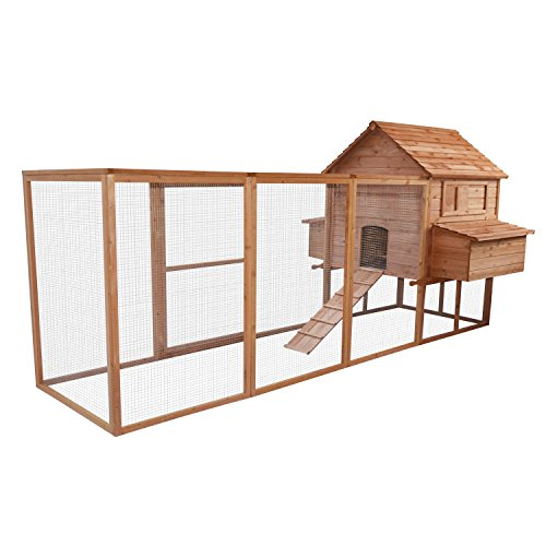Eight24hours Large Poultry Goose Wooden Chicken Coop Pet House Run Nest Box Backyard (Heat Lamp Fixture Dog House compare prices)