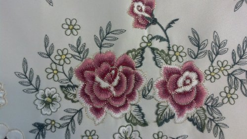 "Red Rose Table Runner, Size 14""*28"", Or Click ""5 New"" For Other Sizes front-508152"