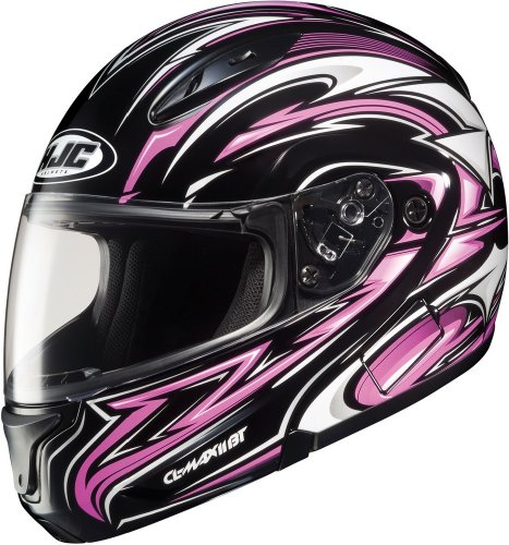 Hjc Cl-Max2 Atomic - Modular Flip-Up Full Face Motorcycle Helmet - Mc8 - Pink - Md