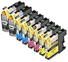 © Blake Printing Supply8 Pack Ink Cartridges for inkjet printers 2 Black, 2 Cyan, 2 Magenta, 2 Yellow Compatible with Brother LC101 , LC103 DCP-J152W, MFC-J245, MFC-J285DW, MFC-J4310DW, MFC-J4410DW, MFC-J450DW, MFC-J4510DW, MFC-J4610DW, MFC-J470DW, MFC-J4710DW, MFC-J475DW, MFC-J650DW, MFC-J6520DW, MFC-J6720DW, MFC-J6920DW, MFC-J870DW, MFC-J875DW. LC101BK , LC101C , LC101M , LC101Y , LC103BK , LC103C , LC103M , LC103Y