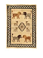 Kilim Carpets by Jalal Alfombra Gashgai (Beige/Azul)