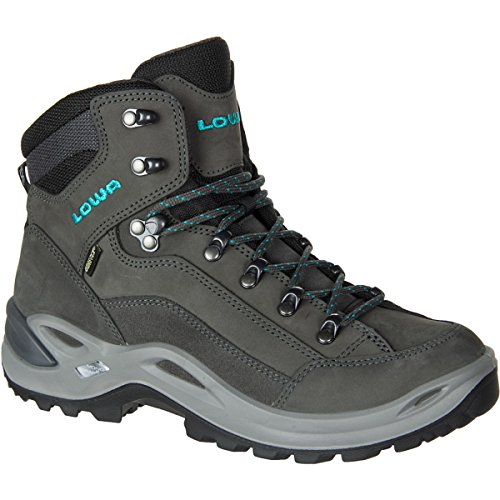Lowa Women's Renegade GTX Mid WS Hiking Boot, Anthracite/Turquoise