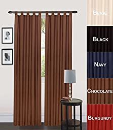 Utopia Bedding Tab Top Curtain (Package include 2 Panels)60\