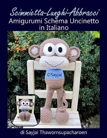 Amazon.com: Scimmietta-Lunghi-Abbracci Amigurumi Schema Uncinetto in