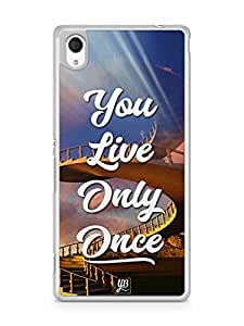 YuBingo You Live Only Once Designer Mobile Case Back Cover for Sony Xperia M4