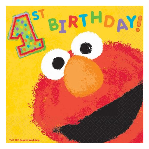 Elmo's 1st - Lunch Napkins Party Accessory