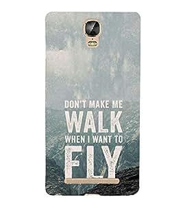 EPICCASE Make me fly Mobile Back Case Cover For Gionee Marathon M5 Plus (Designer Case)
