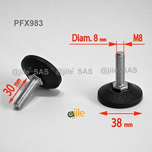 ajile-1-pieza-pie-nivelador-ajustable-con-base-redonda-rosca-diametro-8-mm-m8-largo-30-mm-acero-galv