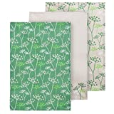 Premier Housewares Cow Parsley Tea Towels, Set of 3