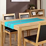 ELAN Cotton Moroccon theme based table runner with size 33x140cm (Blue)