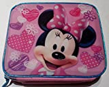 Minnie Mouse Insulated Lunch Box with Hearts and Polka Dots Glitter Graphic