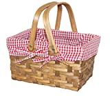 Search : Quickway Imports Rectangular Basket Lined with Gingham Lining, Small (Discontinued by Manufacturer)