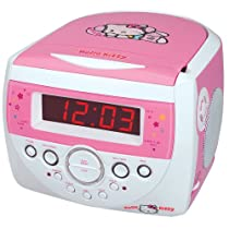 Hello Kitty CD Clock Radio - Pink/ White (KT2053)