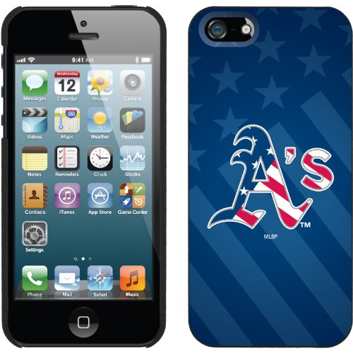Great Price Oakland Athletics - USA Blue design on a Black iPhone 5 Thinshield Snap-On Case by Coveroo