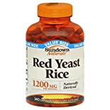 Sundown Naturals Red Yeast Rice, 1200 mg, Capsules, Value Size, 240 capsules