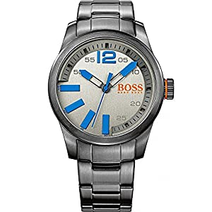 Hugo Boss Orange Watches Gent's Gunmetal Bracelet Watch With Blue Pointers