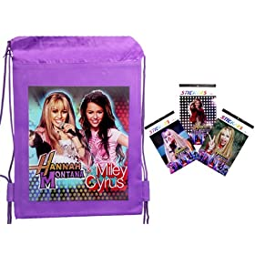 Hannah Montana Drawstring backpack+3 Sticker Books,Hannah Montana Handbag also available!