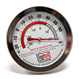 DayMark 115410 Stainless Steel Dishwasher Safe Refrigerator/Freezer Classic Thermometer, -30 to +80 Degree F Temperature, 2.4