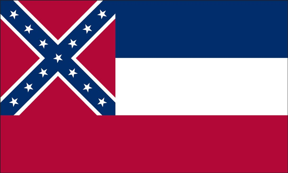 Mississippi State Flag Coloring Pages
