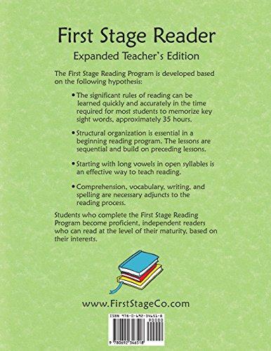 First Stage Reader Teacher's Edition