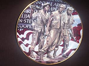 FRANKLIN MINT COLLECTOR'S PLATE THE OFFICIAL FRIENDS OF THE VIETNAM VETERANS MEMORIAL PLATE MO# U9847