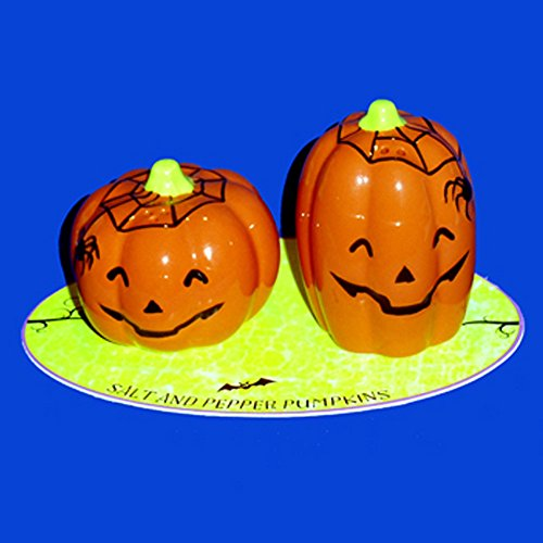 Hallmark Halloween Pumpkin and Spider Salt and Pepper Shakers