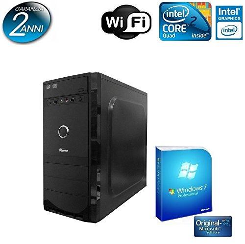PC DESKTOP TRUSTECH INTEL QUAD CORE CON LICENZA WINDOWS 7 PROFESSIONAL 64 BIT ORIGINALE /WIFI/HD 1TB SATA III/RAM 8GB 1600MHZ/HDMI-DVI-VGA/USB 2.0 3.0/ PC FISSO COMPLETO PRONTO ALL'USO ,PER UFFICIO,CASA,GIOCHI, TRUSTECH4680