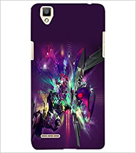 PrintDhaba Digital Abstract D-2062 Back Case Cover for OPPO F1 (Multi-Coloured)