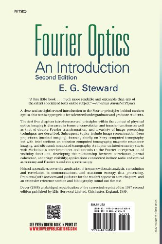 Fourier Optics an Introduction 2nd (Dover Books on Physics)