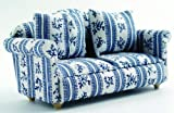 DOLLS HOUSE BLUE SOFA COUCH 1/12TH