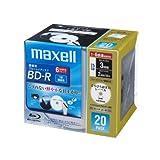 日立マクセル 録画用 BD-R 25GB 6倍速対応 プリンタブル ホワイト ひろびろ超美白レーベル 20枚入 BR25VFWPC.20S