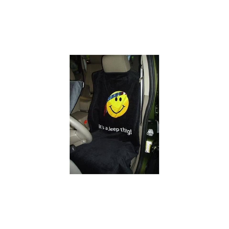 1bd1cc42 Jeep Smiley Face Logo Seat Armour Car Seat Towel Automotive on PopScreen