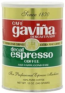 Gavina Decaf Espresso Ground Coffee, 12 Ounce from F. Gavina & Sons, Inc.