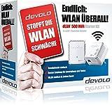 devolo dLAN 500 WiFi Starter Kit + Kaspersky Internet Security 2016 (500 Mbit/s, Powerline, 2 Adapter im Set, 1x LAN, WiFi Move) -
