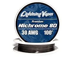Genuine Lightning Vapes ® 30 AWG Nichrome 80 Wire 25\' 50\' 100\' 250\' 500\' 1000\' (100\')