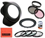 Big Mike'S 67Mm Multi-Coated 7 Piece Filter Set Includes 3 Pc Filter Kit (Uv-Cpl-Fld-) And 4 Pc Close Up Filter Set (+1+2+4+10) For Canon Powershot Sx500 Is 16.0 Mp Digital Camera + Filter Adapter + More!!