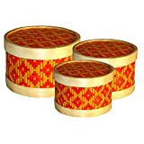 JGC Bamboo Made Gift Box Set Of 3 (round)