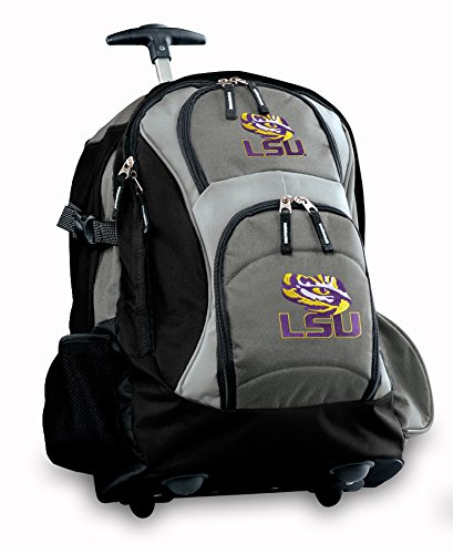 Lsu Rolling Backpack Deluxe Gray Lsu Tiger Eye Best Backpacks Bags With Wheels