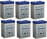 6V 4.5AH SLA Battery replaces cp0660 gp645 lcr6v4p hk-3fm4.5 wp4-6 - 6 Pack