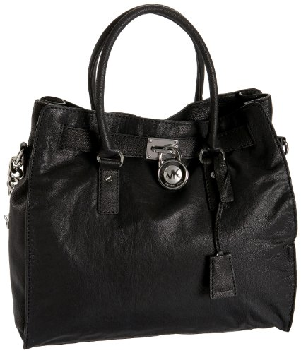 Michael Kors Hamilton Large NS Tote Black Leather