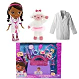 Disney Doc Mcstuffins Costume Dress up with Doctor's Bag, Plush Lamb, Doll and Lab Coat 4-6