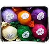 Bath Bombs Gift Set by Rejuvelle- 6 All Natural Assorted Essential Oils Bath Bombs, Infused with Shea Butter and Cocoa Butter. Enjoy a Luxuriously Moisturizing Fizzy Lush Bath. Perfect Relaxation Gifts or Birthday Gift for Her!